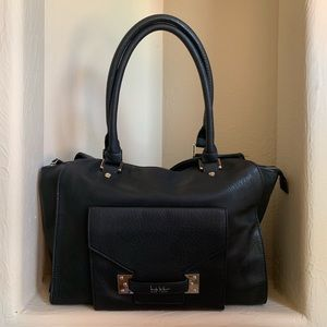 Nicole Miller Black Hand Shoulder Bag